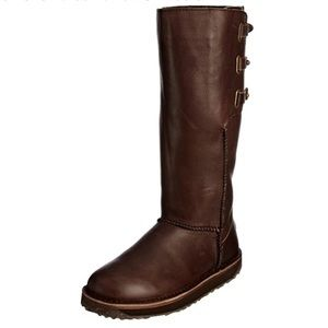 EMU Australia Leather Pull On Boots Women Size 10